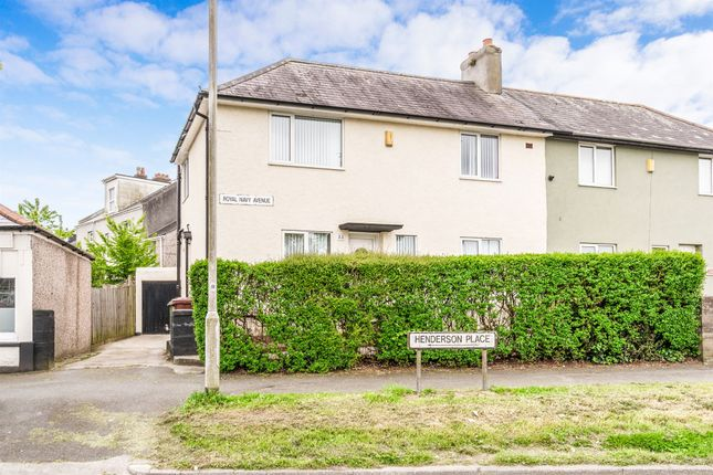 Thumbnail Semi-detached house for sale in Royal Navy Avenue, Keyham, Plymouth