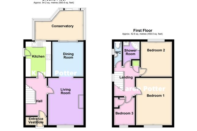 2d Floor Plans of Andreas Close, Birkdale, Southport PR8