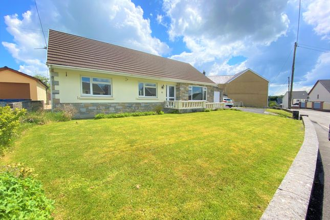 Thumbnail Detached bungalow for sale in Heol Y Dre, Cefneithin, Llanelli