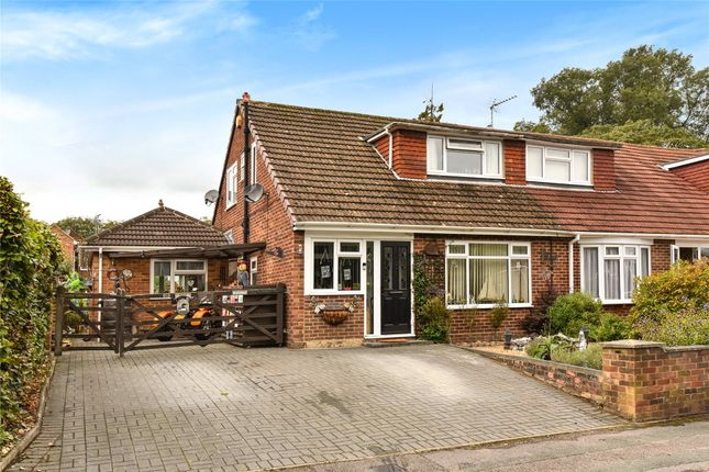 Thumbnail Semi-detached house for sale in Frogmore Park Drive, Blackwater, Camberley, Hampshire