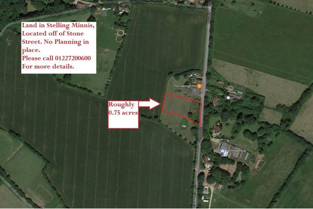 Thumbnail Land for sale in Stone Street, Stelling Minnis, Canterbury