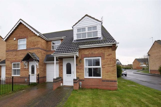 Thumbnail Semi-detached house to rent in Bowmont Way, Kingswood, Hull