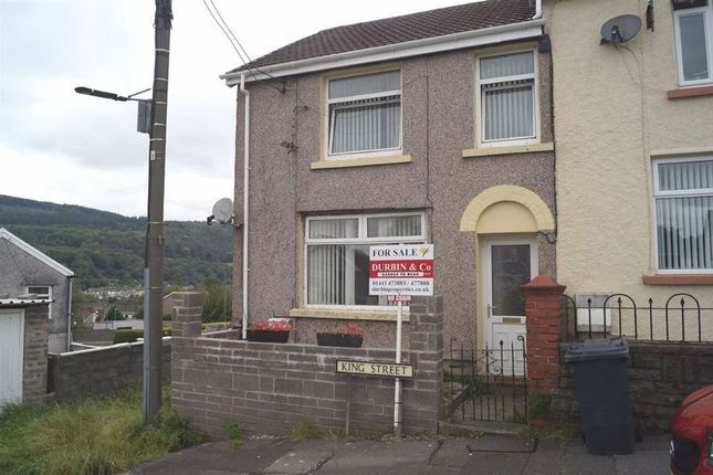 Thumbnail End terrace house for sale in King Street, Abercynon, Mountain Ash
