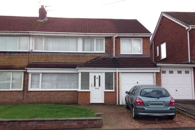 Thumbnail Semi-detached house for sale in Grasmere Road, Chester Le Street