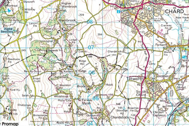 Location of Lower Ridge, Chardstock, Axminster, East Devon TA20