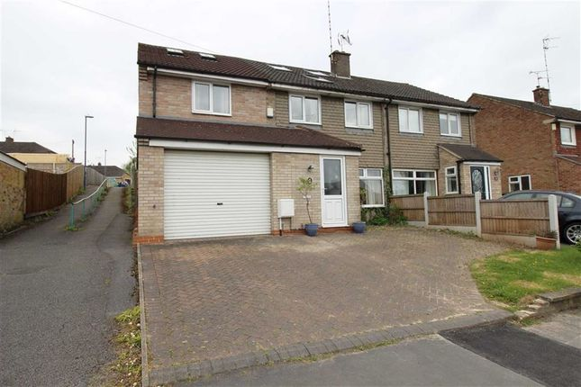 Thumbnail Town house for sale in Portreath Drive, Allestree, Derby