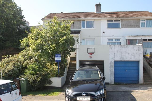 Thumbnail Semi-detached house for sale in Petersfield Close, Plymouth