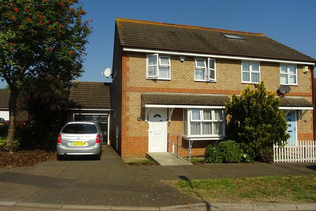 Thumbnail Semi-detached house for sale in Academy Drive, Gillingham, Kent.
