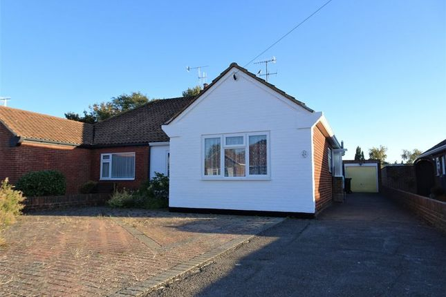 Thumbnail Semi-detached bungalow for sale in Melrose Close, Worthing