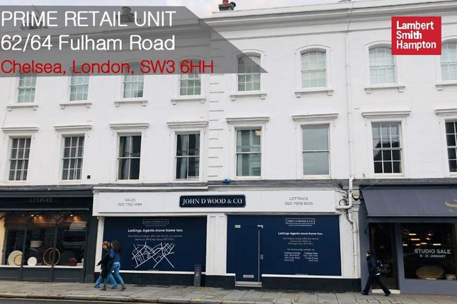 Thumbnail Retail premises to let in Fulham Road, London, Greater London
