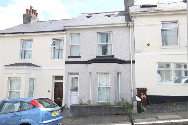 Thumbnail Terraced house for sale in West Hill Road, Plymouth