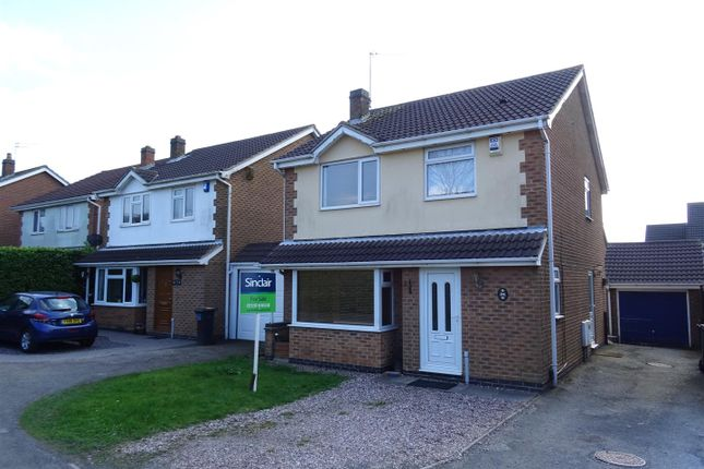 Thumbnail Detached house for sale in Sherwood Close, Ellistown, Leicestershire