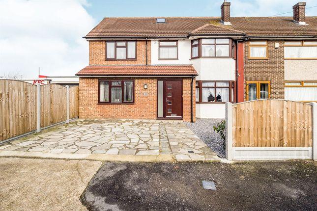 Thumbnail End terrace house for sale in Cherry Walk, Rainham