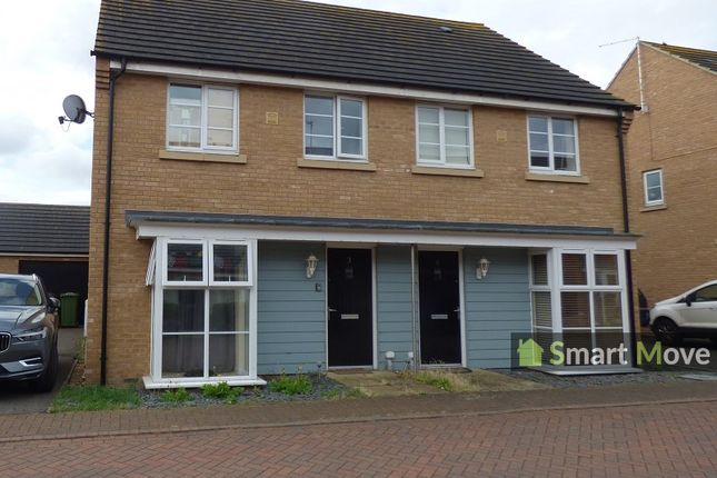 Thumbnail Semi-detached house to rent in Stonewort Avenue, Hampton Vale, Peterborough, Cambridgeshire.