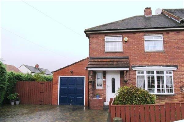Thumbnail Semi-detached house for sale in Harelaw Grove, West Denton, Newcastle Upon Tyne