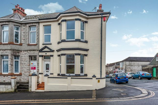 Thumbnail End terrace house for sale in Lipson Road, Lipson, Plymouth