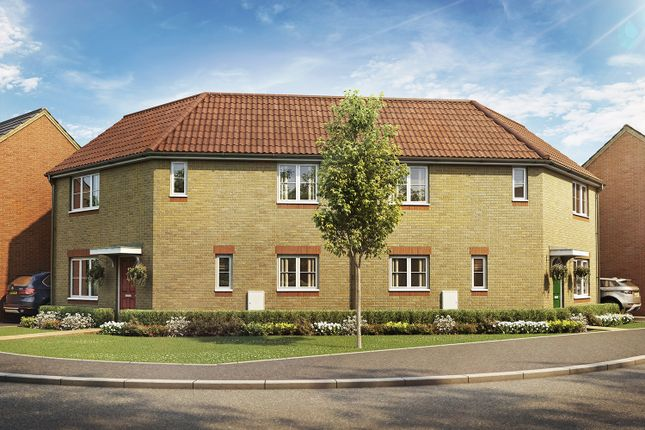 Thumbnail Semi-detached house for sale in Rockingham Gate, Priors Hall Park, Weldon, Corby