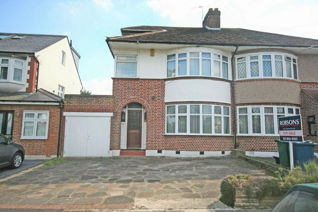 Thumbnail Semi-detached house for sale in St. Michaels Crescent, Pinner, Middlesex