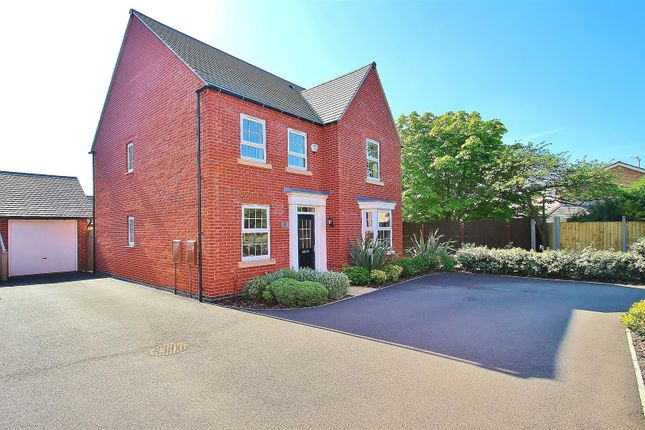 Thumbnail Detached house for sale in Loddington Close, Syston, Leicestershire