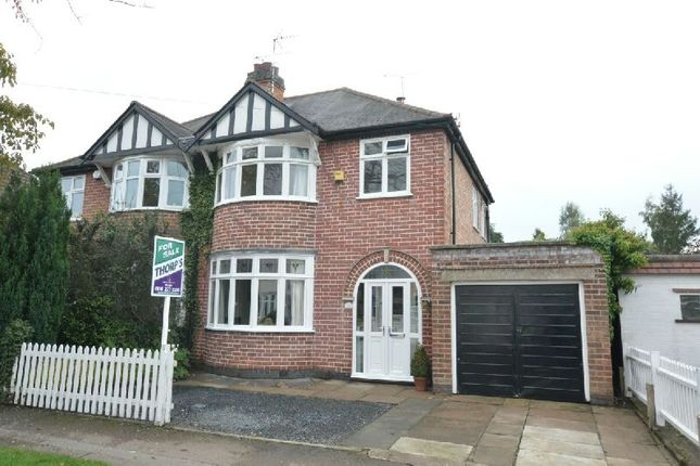 Thumbnail Semi-detached house for sale in West View Avenue, Glen Parva, Leicester