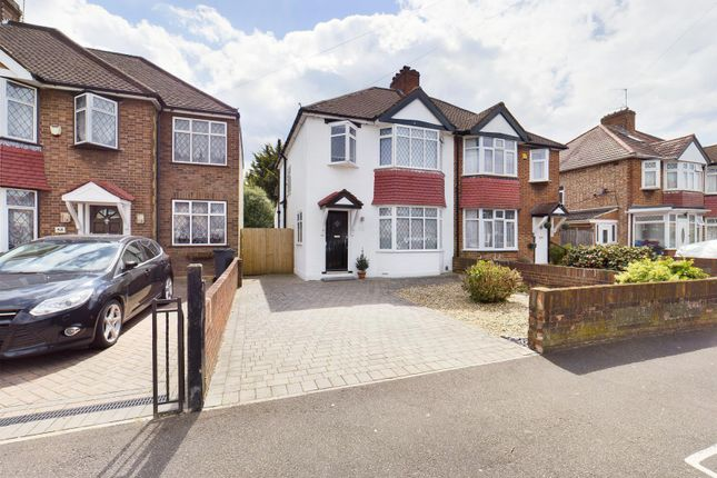 Thumbnail Semi-detached house for sale in Boundaries Road, Feltham, Middlesex