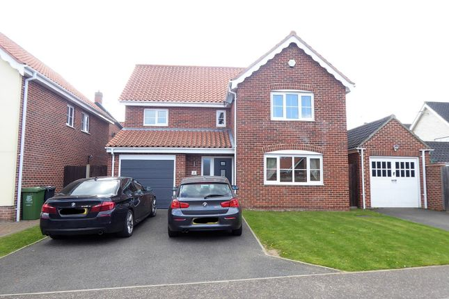 Thumbnail Detached house to rent in Lord Montgomery Way, Bradwell, Great Yarmouth