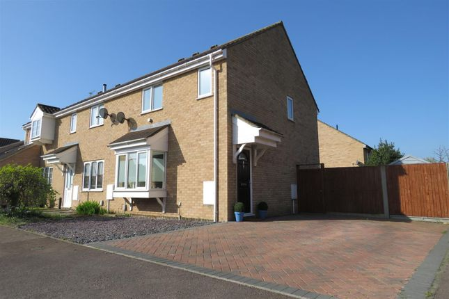 Thumbnail End terrace house for sale in Durham Close, Biggleswade