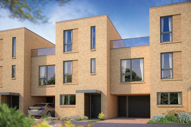 "Thumbnail Terraced house for sale in ""The Johnson"" at Whittle Avenue, Trumpington, Cambridge"