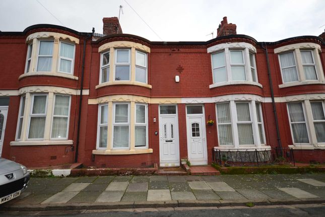 Thumbnail Terraced house to rent in Greencroft Road, Wallasey