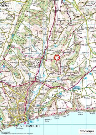 Location Plan of Sidbury, Sidmouth, Devon EX10