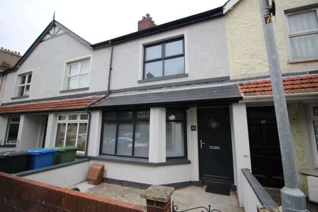 Thumbnail Terraced house to rent in Southwell Road, Bangor