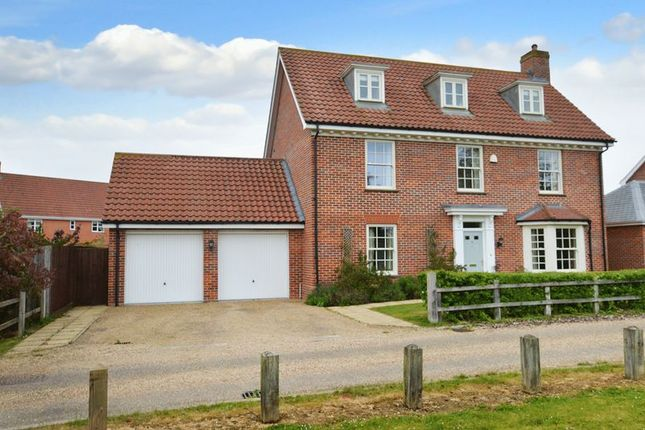 Thumbnail Detached house for sale in Meadows Drive, Mulbarton, Norwich