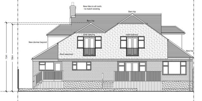 Rear Elevation of Claygate, Esher, Surrey KT10