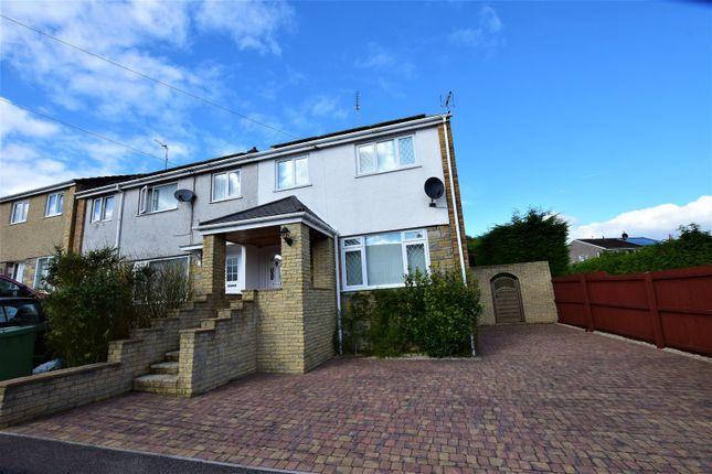 Thumbnail Semi-detached house for sale in St. Annes Drive, Llantwit Fardre, Pontypridd