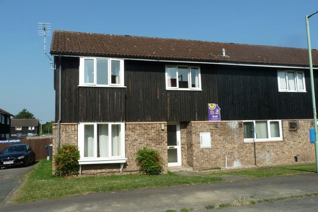 Thumbnail End terrace house to rent in Highclere Close, Exning, Newmarket