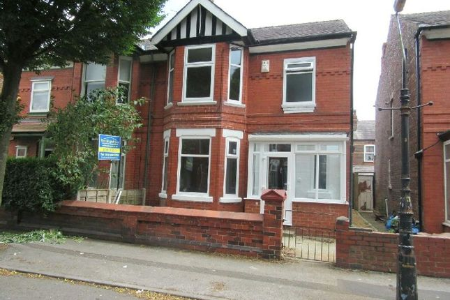 Thumbnail Semi-detached house for sale in Reynolds Road, Old Trafford, Manchester