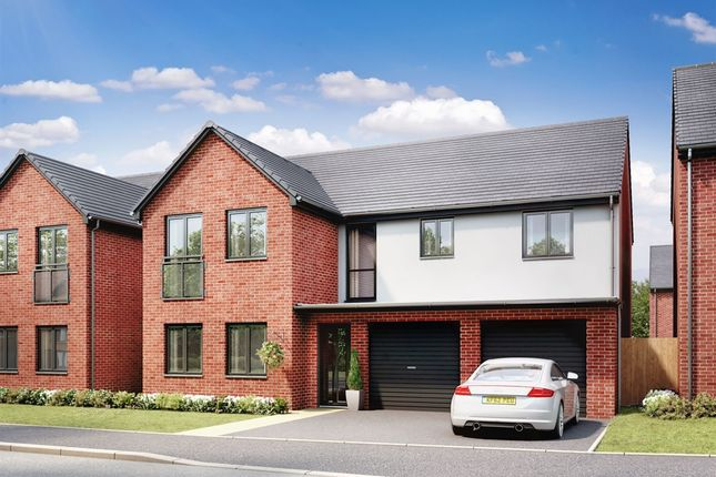 "Thumbnail 5 bed detached house for sale in ""The Fenchurch"" at Llantrisant Road, Capel Llanilltern, Cardiff"