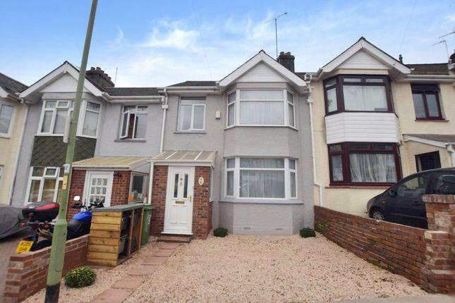 Thumbnail Terraced house to rent in Clifton Gardens, Paignton, Devon