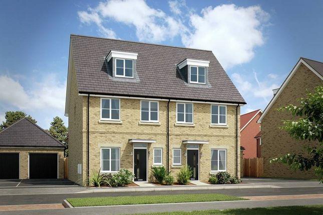 "Thumbnail Semi-detached house for sale in ""The Kearfield"" at London Road, Calverton, Milton Keynes"