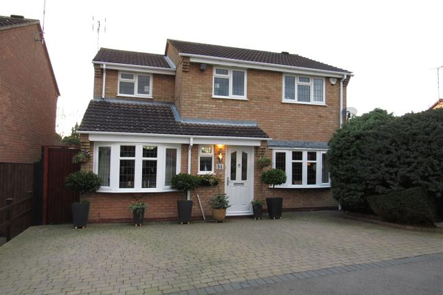 Thumbnail Detached house for sale in Grosvenor Close, Glen Parva, Leicester