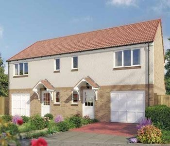 "Thumbnail Semi-detached house for sale in ""The Newton"" at Hallhill Road, Johnstone"