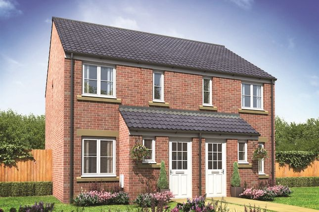 "Thumbnail End terrace house for sale in ""The Alnwick"" at Brookside, East Leake, Loughborough"