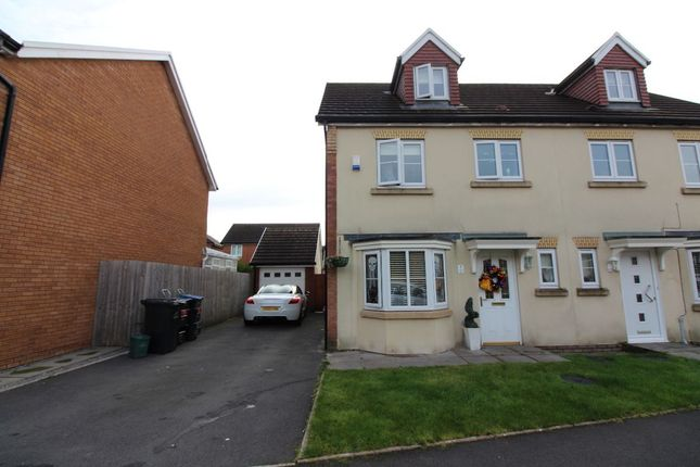 Thumbnail Semi-detached house for sale in Copper Beach Drive, Bedwelty Gardens, Peacehaven, Tredegar