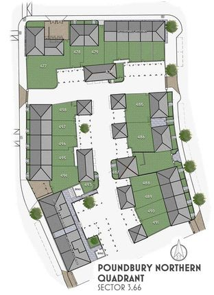 Site Plan of Eleanor Coade Mews, Poundbury, Dorchester DT1