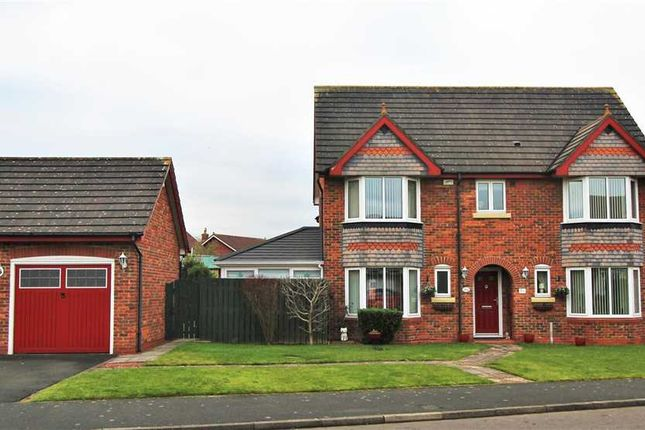 Thumbnail Detached house for sale in Dover Close, Hazelmere, Bedlington