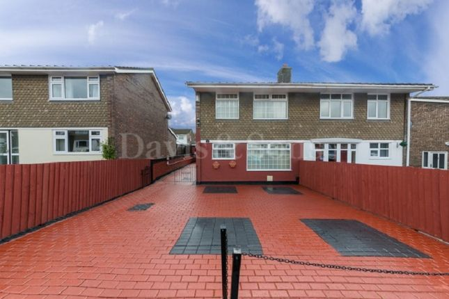 Thumbnail Semi-detached house for sale in Court Gardens, Rogerstone, Newport.