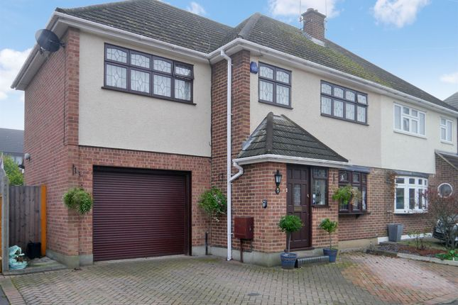 Thumbnail Semi-detached house for sale in Carswell Close, Hutton, Brentwood