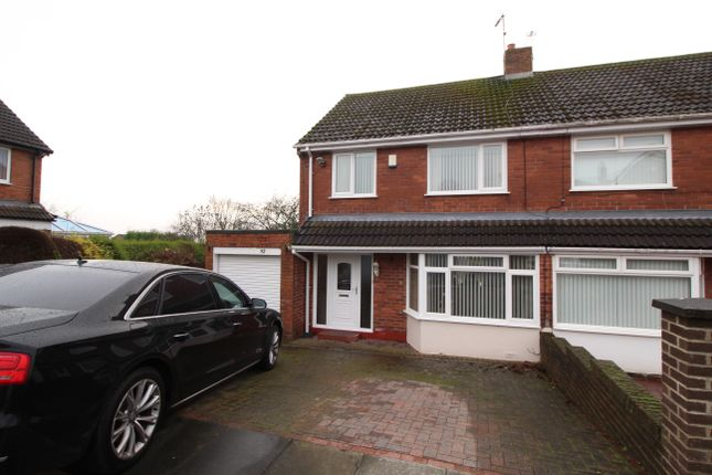 Thumbnail Semi-detached house for sale in Coquet Grove, Throckley, Newcastle Upon Tyne