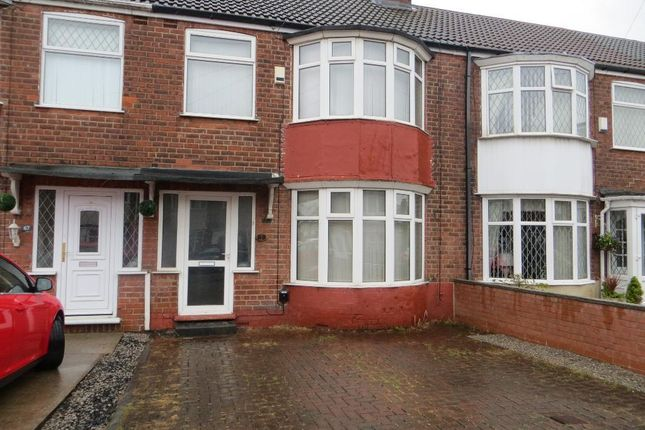 Thumbnail Terraced house to rent in Westfield Road, Hull