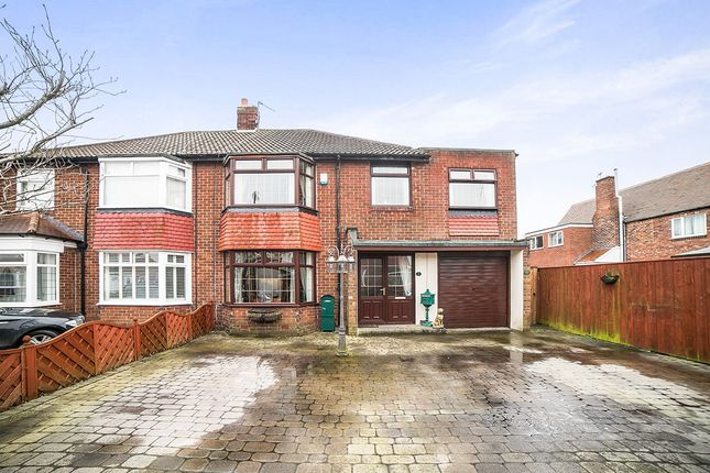 Thumbnail Semi-detached house for sale in Ravenswood Close, Forest Hall, Newcastle Upon Tyne